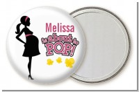 About to Pop Mommy Pink - Personalized Baby Shower Pocket Mirror Favors