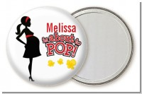 About To Pop Mommy Red - Personalized Baby Shower Pocket Mirror Favors
