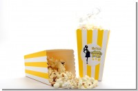 About to Pop Mommy Yellow - Personalized Baby Shower Popcorn Boxes - Set of 12