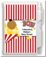 About To Pop - Baby Shower Personalized Notebook Favor