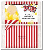About To Pop - Personalized Popcorn Wrapper Baby Shower Favors