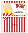 About To Pop - Personalized Popcorn Wrapper Baby Shower Favors thumbnail