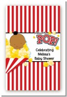 About To Pop - Custom Large Rectangle Baby Shower Sticker/Labels