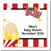 About To Pop - Personalized Baby Shower Card Stock Favor Tags