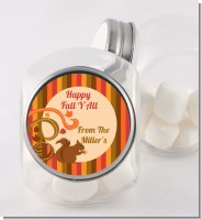 Acorn Harvest Fall Theme - Personalized Halloween Candy Jar