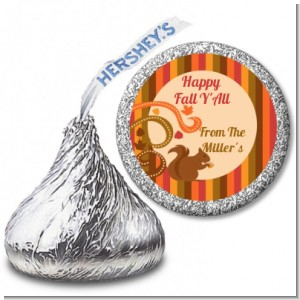 Acorn Harvest Fall Theme - Hershey Kiss Halloween Sticker Labels