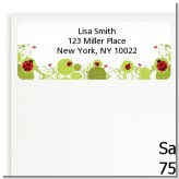 Ladybug - Baby Shower Return Address Labels