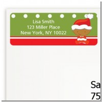 Christmas Baby African American - Baby Shower Return Address Labels