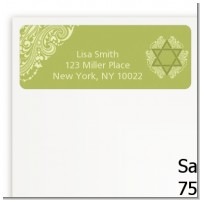 Jewish Star of David Sage Green - Bar / Bat Mitzvah Return Address Labels