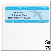 Dolphin - Birthday Party Return Address Labels