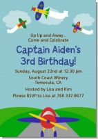 Airplane - Birthday Party Invitations