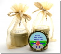 Airplane - Baby Shower Gold Tin Candle Favors