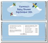 Airplane - Personalized Baby Shower Candy Bar Wrappers