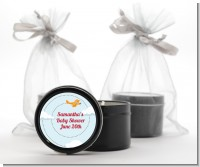 Airplane in the Clouds - Baby Shower Black Candle Tin Favors