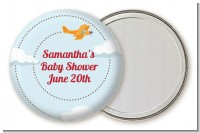 Airplane in the Clouds - Personalized Birthday Party Pocket Mirror Favors