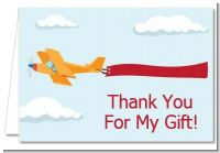 Airplane in the Clouds - Baby Shower Thank You Cards