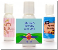 Airplane - Personalized Baby Shower Lotion Favors