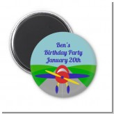 Airplane - Personalized Baby Shower Magnet Favors