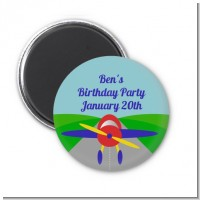 Airplane - Personalized Birthday Party Magnet Favors