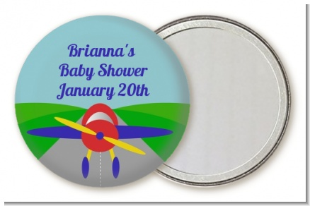 Airplane - Personalized Baby Shower Pocket Mirror Favors