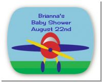 Airplane - Personalized Baby Shower Rounded Corner Stickers