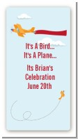 Airplane in the Clouds - Custom Rectangle Baby Shower Sticker/Labels