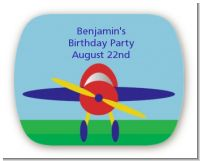 Airplane - Personalized Birthday Party Rounded Corner Stickers