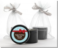 All Wrapped Up Gifts - Christmas Black Candle Tin Favors