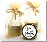 40 and Fabulous Glitter - Birthday Party Gold Tin Candle Favors