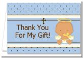 Angel Baby Boy Hispanic - Baptism / Christening Thank You Cards