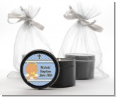 Angel Baby Boy Hispanic - Baptism / Christening Black Candle Tin Favors