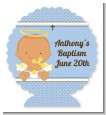 Angel Baby Boy Hispanic - Personalized Baptism / Christening Centerpiece Stand thumbnail