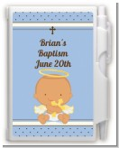 Angel Baby Boy Hispanic - Baptism / Christening Personalized Notebook Favor