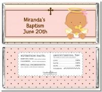Angel Baby Girl Hispanic - Personalized Baptism / Christening Candy Bar Wrappers