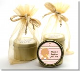 Angel Baby Girl Hispanic - Baptism / Christening Gold Tin Candle Favors
