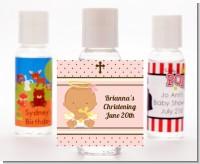 Angel Baby Girl Hispanic - Personalized Baptism / Christening Hand Sanitizers Favors