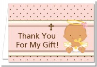 Angel Baby Girl Hispanic - Baptism / Christening Thank You Cards