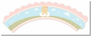 Angel in the Cloud Girl - Baby Shower Cupcake Wrappers