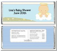 Angel in the Cloud Boy - Personalized Baby Shower Candy Bar Wrappers