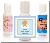 Angel in the Cloud Boy Hispanic - Personalized Baby Shower Lotion Favors