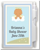 Angel in the Cloud Boy Hispanic - Baby Shower Personalized Notebook Favor