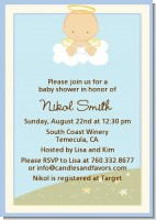 Angel in the Cloud Boy - Baby Shower Invitations
