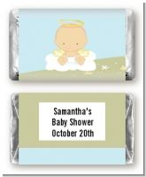 Angel in the Cloud Boy - Personalized Baby Shower Mini Candy Bar Wrappers