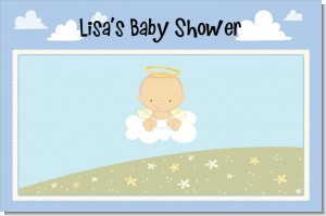 Angel in the Cloud Boy - Personalized Baby Shower Placemats