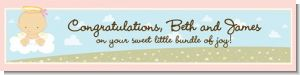 Angel in the Cloud Girl - Personalized Baby Shower Banners
