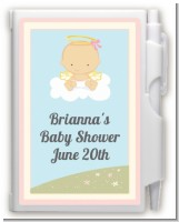 Angel in the Cloud Girl - Baby Shower Personalized Notebook Favor