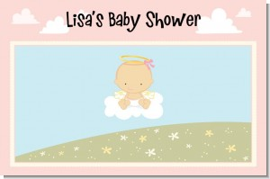 Angel in the Cloud Girl - Personalized Baby Shower Placemats
