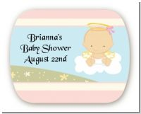 Angel in the Cloud Girl - Personalized Baby Shower Rounded Corner Stickers