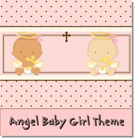 Angel Baby Girl Baptism Theme