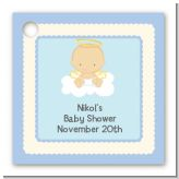 Angel in the Cloud Boy - Personalized Baby Shower Card Stock Favor Tags